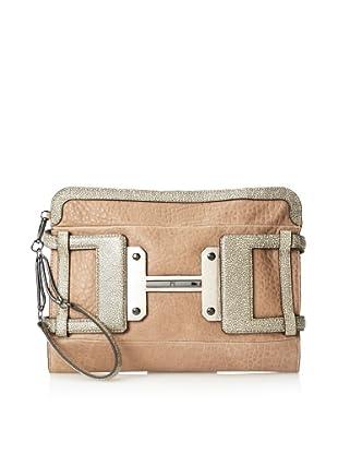 Halston Heritage Women's Leather H Executive Clutch (Chamois Multi)