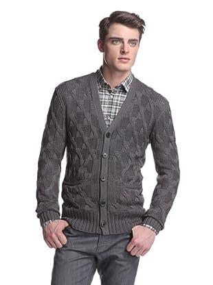 John Varvatos Collection Men's Cableknit Cardigan (Shale Grey)