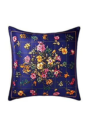 Bill Blass Floral Scarf Pillow, Navy/Multi