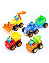 Zest4Toyz UNBREAKABLE Automobile CAR Toy Set For Children Kids Toys Construction Team Set of 4