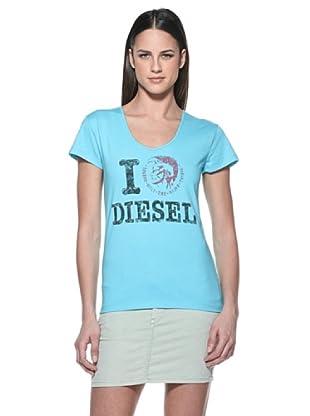 Diesel T-Shirt Tictor (Hellblau)