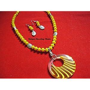 Unique Dazzling Beads Splendid Yellow
