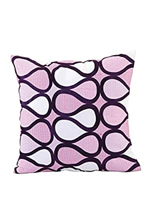 Trina Turk Residential Peacock Abstract Drops Pillow, Purple/Pink