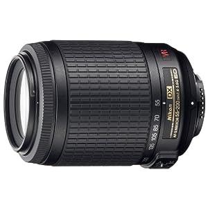 Nikon 55-200mm f/4-5.6G AF-S VR DX IF-ED Telephoto Zoom Lens for Nikon Digital SLR Camera (Black)