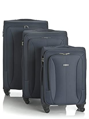 Sphera Set 3 trolley 4 ruote Easy (Blu)