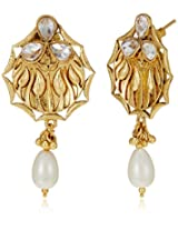 Ava Traditional Drop Earrings for Women (Gold) (E-SD-F1298)