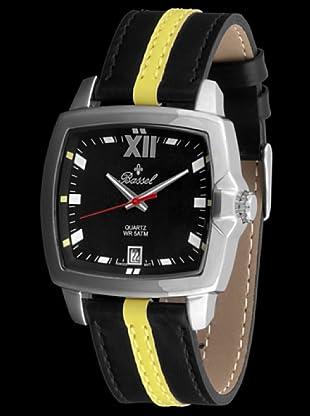 Bassel Reloj 60129AM de Acero negro / amarillo
