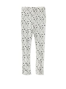 A for Apple Ren Leggings with Apple Peel Print (White)