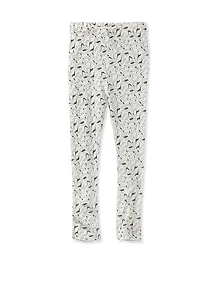 A for Apple Ren Leggings with Apple Peel Print (White)