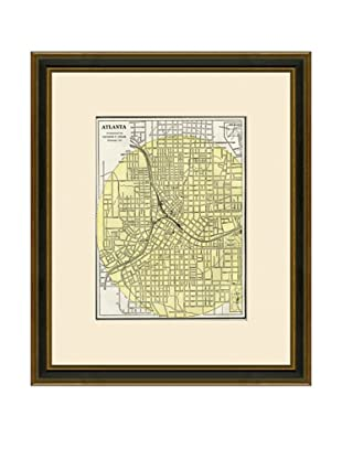 Antique Lithographic Map of Atlanta, 1883-1903
