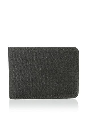 Bosca Men's Field Small Bifold Wallet (Gray/Dark Brown)