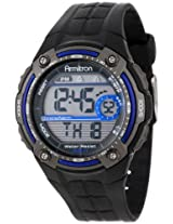 Armitron Men's Black Rubber Digital Watch - 408189BLU