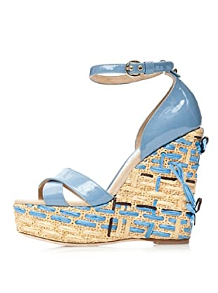 D&G Sandalias Cuña (Azul claro)