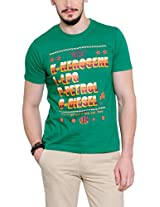 Yepme Men's Green Graphic T-shirt -YPMTEES0252_L