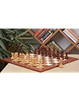 Chessbazaar Combo Of Apache Series Chess In Bud Rose/Box Wood & Red Ash Burl Maple Gloss Finish Board With Free Wooden Storage Box