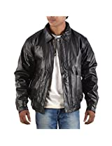 Yas Fashions Men's Loose Fit Leather Winter Jacket ( Y03-X Large_Black_X-Large )