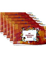 Prahaas Drawing Book With Butter Paper, Pack of 5, Red-Orange