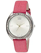 Gio Collection Analog White Dial Women's Watch - G0050-01
