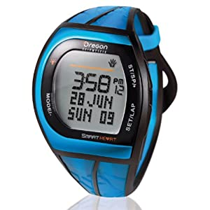 【クリックでお店のこの商品のページへ】[オレゴン]Oregon 腕時計 アスリートモデル タッチパネル機能搭載 デジタル心拍計 チェストベルト付き ブルー SH201 メンズ 【正規輸入品】