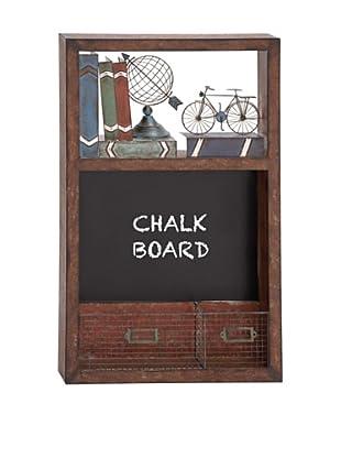 Wall Organizer With Blackboard & Drawers