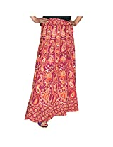 Marusthali Printed Cotton Elephant & Camel Wrap Around Skirt