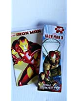 2 Pc Iron Man Comic And 50 Pc Puzzle