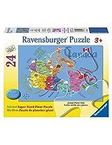 Ravensburger Canada Map Floor Puzzle (24 Piece)