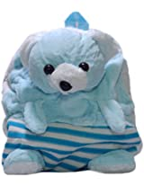 Rahejacraft Bear Plush Backpack, Light Blue