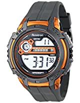 Armitron Sport Men's 40/8313ORG Fitness Watch with Grey Resin Band