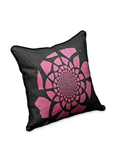 AphroChic Mandala Pillow (Fuchsia/Black)