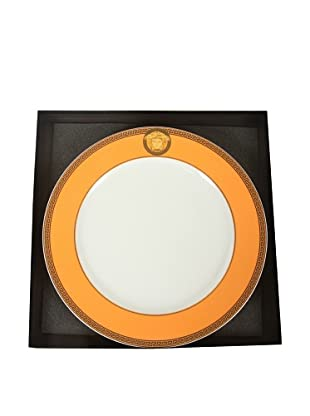 Versace Ikarus Medusa Service Plate, Orange/White/Gold