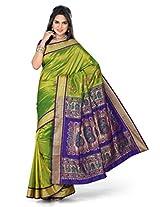 ISHIN Paithani Tana Silk Green Saree STCS-58
