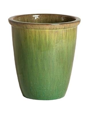 Emissary Ceramic Urn Planter (Melon Green)