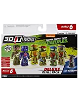 3D Character Creator Teenage Mutant Ninja Turtles Deluxe Refill Pack Novelty Toy