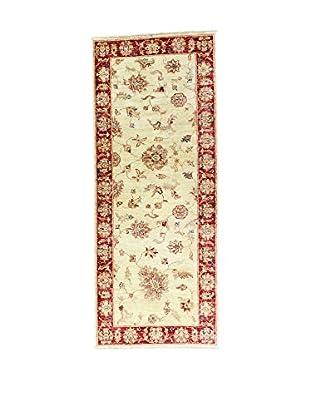 L'Eden del Tappeto Teppich Zeigler ecru/rot 200t x t80 cm