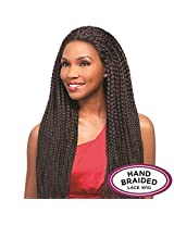 Senegal Collection Braided Lace Wig Maxi Braid (1 Jet Black)