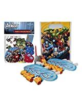 Marvel Avengers Birthday Party Supplies Pack. Blowouts, Avengers Assemble Favor Pack, Bags And A Candle