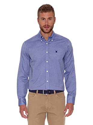 Polo Club Camisa Oxford (Azul Marino)