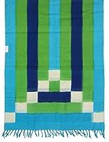 Multicolour Pochampally Or Ikat Cotton Handloom Dupatta
