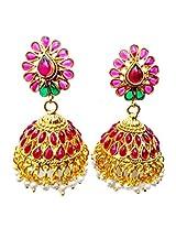 Fida Arts Designer Multi Colour Copper Jhumki Earrings For Women - A004