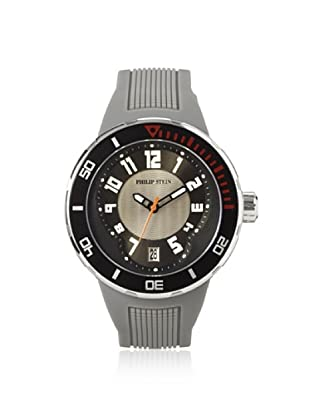 Philip Stein Men's 34-BGR-RGR Extreme Grey Rubber Watch