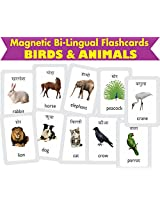 MFM TOYS Birds & Animals Bilingual (Hindi+English) Magnetic Flashcards