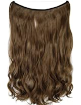 """Topperty 100g 22"""" Wavy Flip In Hair Extensions Synthetic Hair #10 Medium Ginger Brown"""