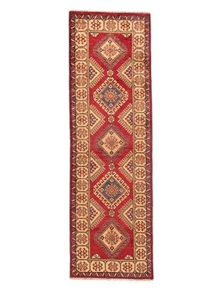 Rug Republic One Of A Kind Pakistani Kazak Rug, Red/Blue/Antique Ivory/Multi, 2' 1 x 9' 4