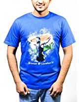 Wear Your Heroes Men's Round Neck Cotton T-Shirt (WYHYD_Royal Blue_Large)