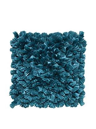 Cloud 9 3D Reef Throw Pillow, Blue