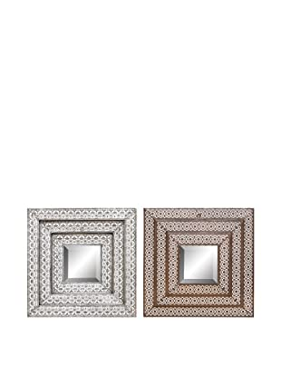UMA Set of 2 Assorted Metal Wall Mirrors