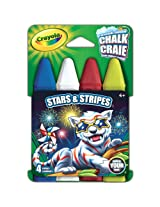 Crayola Build Your Box Stars & Stripes Chalk (4 Count)