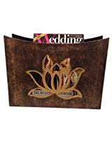 Butterfly Homes Wood Magazine Rack, 14 X 5.3 X 10, Gold Bronze
