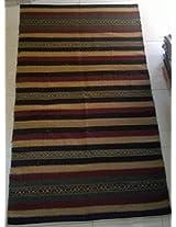 Radhikaa Jute Rugs (Terra Blue, 120cm*180cm)